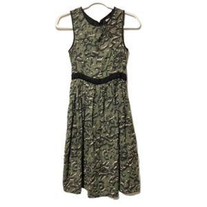 ASOS Green Black Print Cotton Dress 2